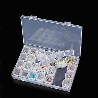 Diamond Painting Plastic Storage Box - Rhinestone Tools, Beads Organizer,