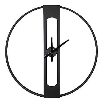 Round Metal Matte Black Wall Clock