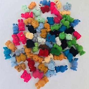 50pcsラブリーかわいいベルベット猿のおもちゃの女の子の誕生日ギフト - バッグのための家の装飾ぬいぐるみキーチェーン