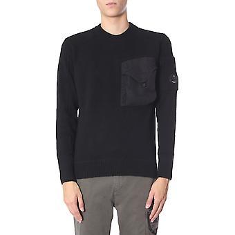 C.p. Bedrijf 07cmkn068a0055504m999 Men's Black Wool Sweatshirt