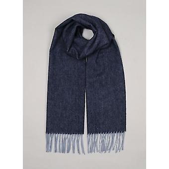 Navy Marl Lambswool Winter sjaal