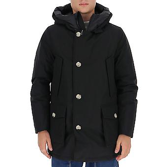Woolrich Woou0271ut0108nbl Men's Musta Nailon Down Jacket