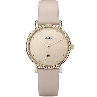 Cluse Cl63005 Le Couronnement Gold & Beige Leather Ladies Watch
