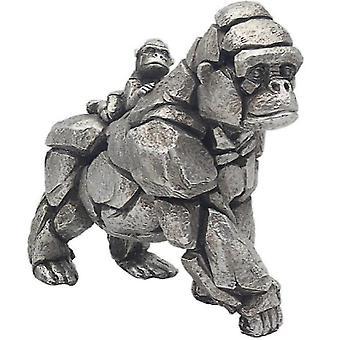 Natural World Gorilla & Baby Figurine By Lesser & Pavey