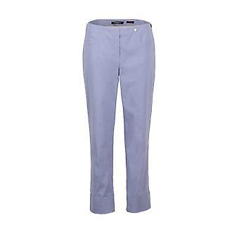 Robell Bella tornozelo Grazer calças em Denim luz azul