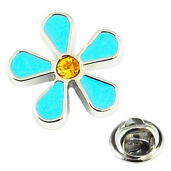 Solmiot Planet Forget Me Not Flower Design Lapel Pin Badge