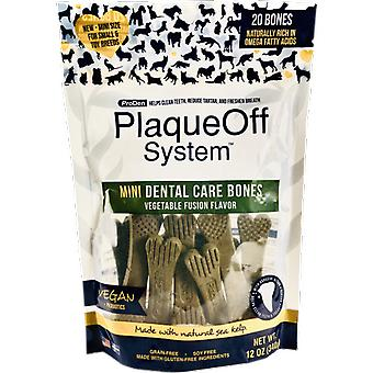 PlaqueOff Mini Veggie Bones (Dogs , Treats , Dental Hygiene)