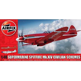 Airfix Supermarine Spitfire Mkxiv Race Scheme Model Kit
