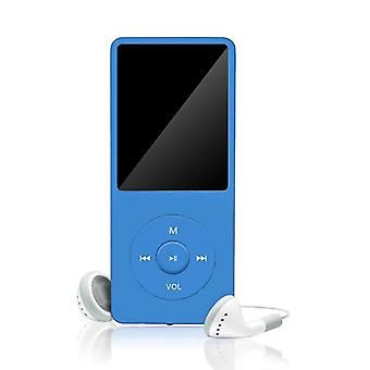 70 horas de reproducción MP3/mp4 Reproductor de música de sonido sin pérdidas Fm Recorder Tf Tarjeta Hasta