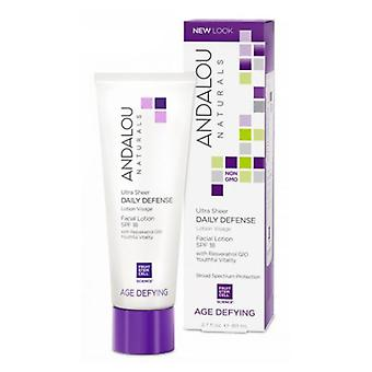 Andalou Naturals Ultra Sheer Daily Defense Facial Lotion, SPF 18 2.7 oz