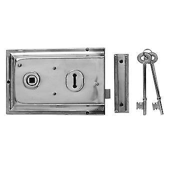 Yale Locks P334 Rim Lock Chrome Finish 156 x 104mm Visi YALP334CH