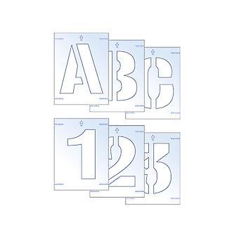 Scan Lettre & Numéro Kit de Pochoir 25mm SCA9403