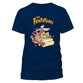The Flintstones Adults Unisex Adults Car T-Shirt