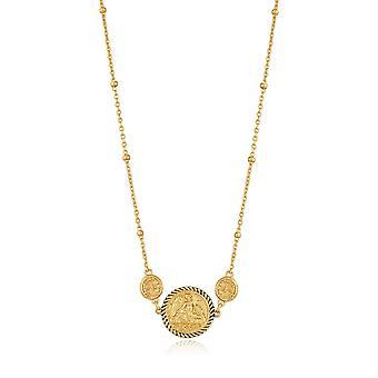 Ania Haie Gold Digger Glanzend Goud gevleugelde Godin Ketting N020-01G