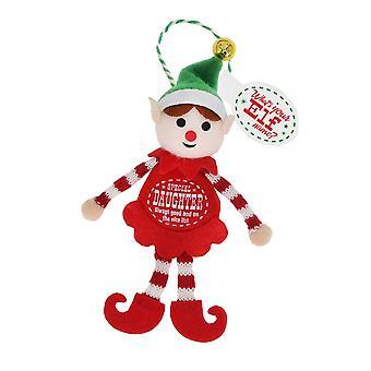 History & Heraldry Elf Decoration - Special Daughter