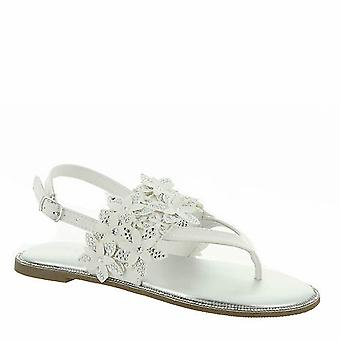 Kids Kenneth Cole Reaction Girls Brie Sweep Buckle Ankle Strap Slide Sandals