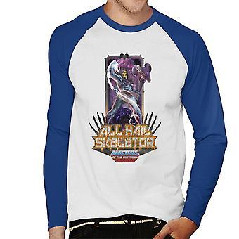 Masters Of The Universe All Hail Skeletor Men''s Baseball Long Sleeved T-Shirt