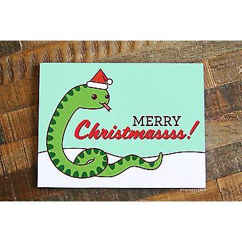 Carte de Noël mignonne - 'quot;joyeux Noëlsss'quot;