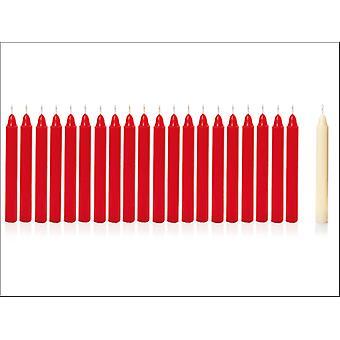Premier Decorations Mini Candles Red/ Ivory 20 x 10cm AC165685RI