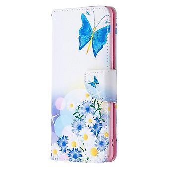 OPPO Etsi X2 Neo-värillinen piirustuskuvio vaakasuuntainen kääntyvän nahan kotelo, jossa pidike &; &Korttipaikat Lompakko(Butterfly Love)