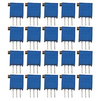 20pcs Side Adjustable Rotation Resistor Trimmer Potentiometer 3296 100R