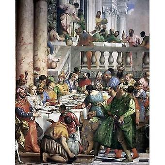 Nozze di Cana - dettaglio stampa del manifesto di Paolo Veronese