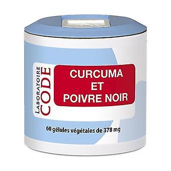 Turmeric and Black Pepper 60 capsules of 378mg