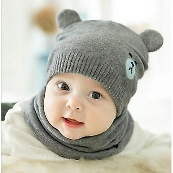 Baby Accessories Toddler Hat Winter Knit Beanie Cap Set