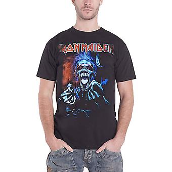 Iron Maiden T Shirt Real Dead One Album Cover Band Logo Official Mens New Black