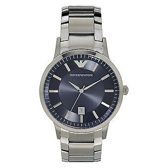 ארמאני Mens כחול פלדה שעונים Ar2477