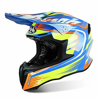 Airoh Twist Mix Motocross and ATV Helmet Gloss Black/Green/Blue/Red ACU Approved