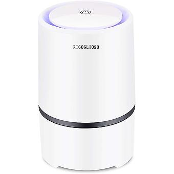 Air Purifier Cleaner For Home, Usb  Cable Low Noise, With Night Light Desktop