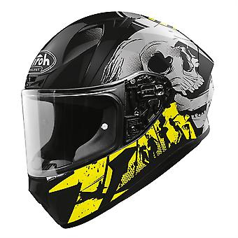 Airoh Valor Full Face Helm Akuna Gloss Gelb grau schwarz ACU Gold genehmigt