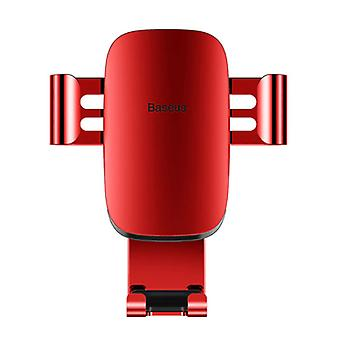Baseus Universal Phone Holder Car with Air Vent Clip - Gravity Dashboard Smartphone Holder Red