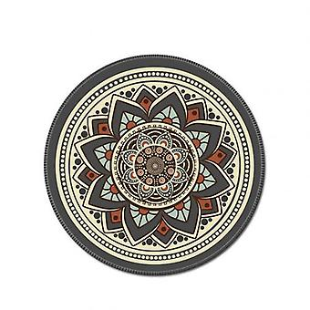 Round Computer 3d Game Carpet Mouse Pad / Mat, Anti Slip Mousepad For Computer