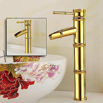 Antique Bamboo Gold-plated Faucet -hot And Cold Taps