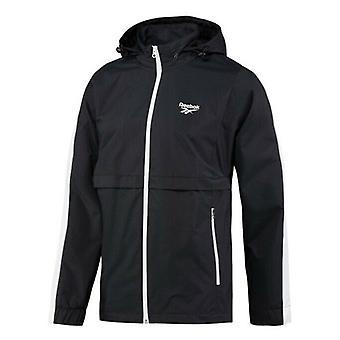 Reebok Herren Vintage Outerwear Jacke Kapuzen Pullover schwarz BR0156 A24C