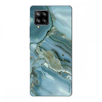 Scafo per Samsung Galaxy A42 5g Silicone Soft 1 Mm, design effetto marmo