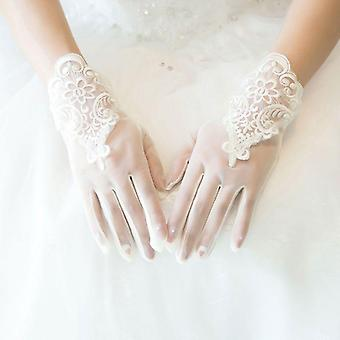Glamour Bride Dress Gloves Lace Short Paragraph Mittens Wedding Accessories