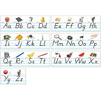 Photo & Modern Manuscript Alphabet Lines Bulletin Board Set