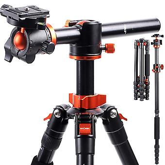 "K&f concept camera tripod monopod 67"" overhead aluminum lightweight tripod with horizontal arm trans"