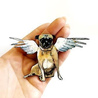 Angel Pug Magnet