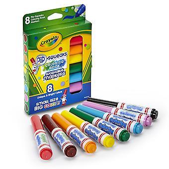 Pip Grince des marqueurs de livre de coloriage lavables, Pack de 8