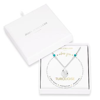 ジョマジュエリーウェルネス宝石シルバーターコイズ45cm + 5cmエクステンダーネックレス4230