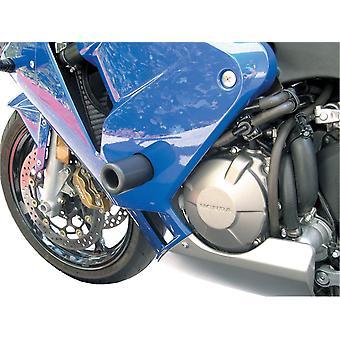 BikeTek Black STP Crash Protector Kompatibel mit Kawasaki Ninja 650R 07-08