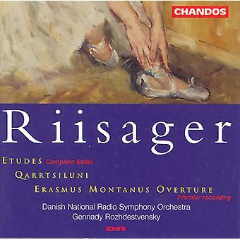 K. Riisager - Riisager: Etudes/Qarrtsiluni/Erasmus Montanus Overture [CD] USA import