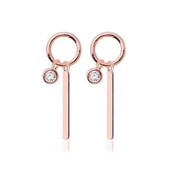 Crystal Earrings With 14k Gold Pin