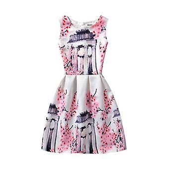 ילדה קיץ ללא שרוולים שמלת פרחים-עיצוב 5