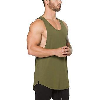 Gym Odzież Bawełna Singlets, Kulturystyka Stringer Tank Top, Mężczyźni Fitness