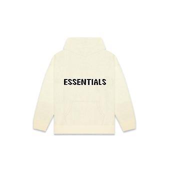 Fear Of God Essentials Knit Hoodie Cream - Clothing